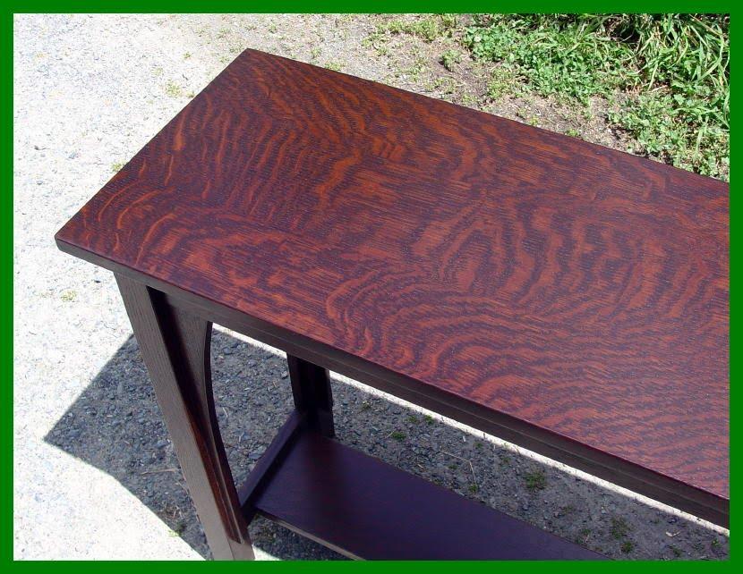 oak mission sofa table price voorhees craftsman furniture - custom ...