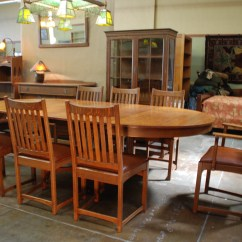Lifetime Chairs And Tables Chair Hammock Stand Voorhees Craftsman Mission Oak Furniture Company 12 Piece Dining Room Set Puritan Line