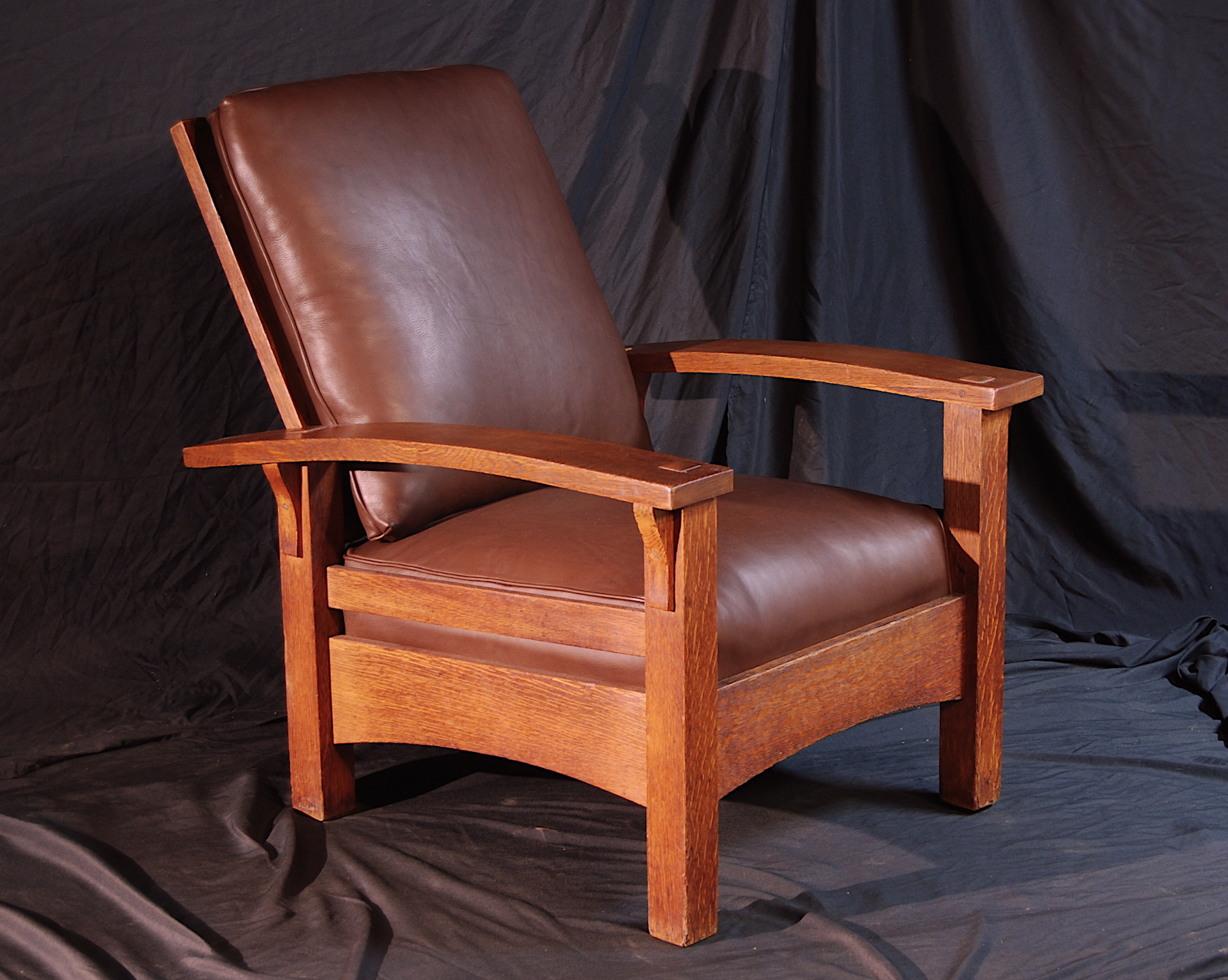 mission recliner chair plans upholstered living room chairs voorhees craftsman oak furniture gustav stickley