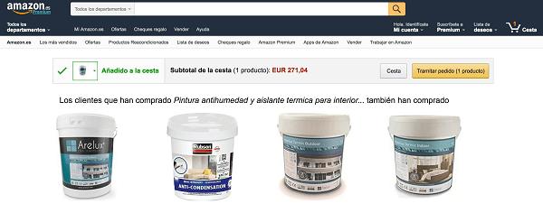 Cesta de la compra Amazon.es