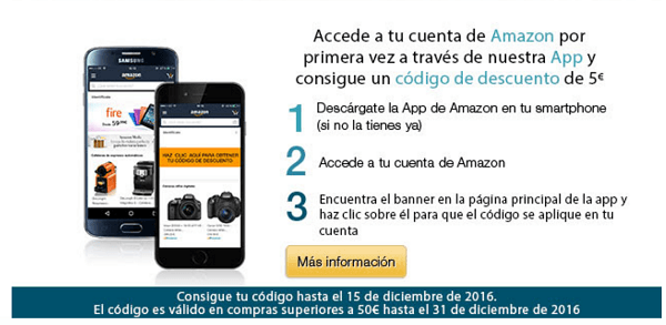 Amazon aplicacion cupon descuento