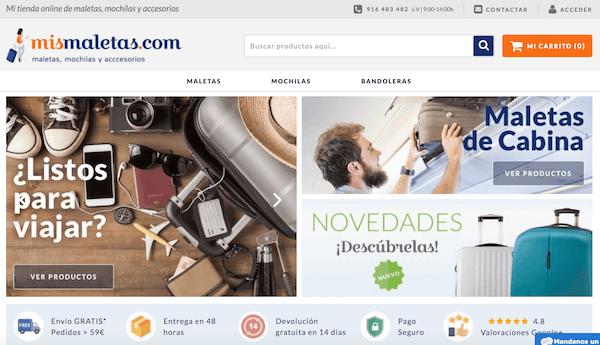 Mismaletas.com venta de maletas