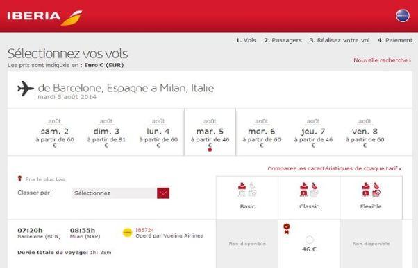 Réservation à Iberia.com