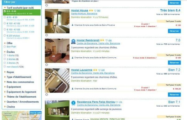 Réservation Booking.com