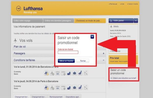 Réduction Lufthansa