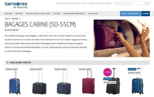 Bagages Samsonite France
