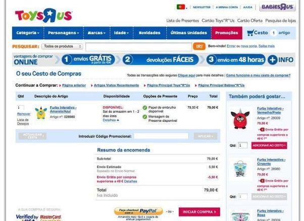 Codigo Promocional Desconto Toys R Us Portugal