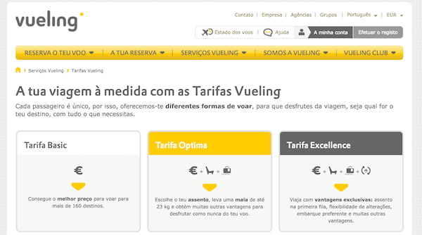 Vueling Descontos