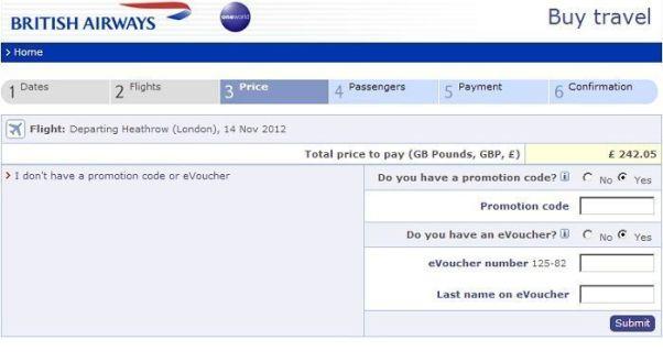Britishairways voucher code