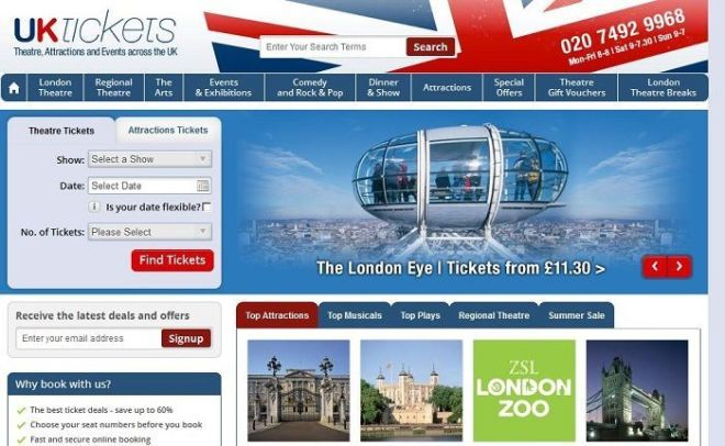 Discount the UKtickets