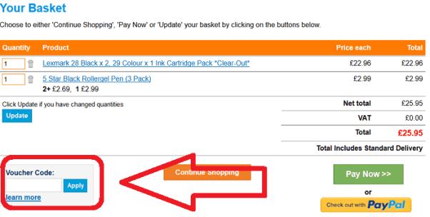 Cartridgeshop voucher code