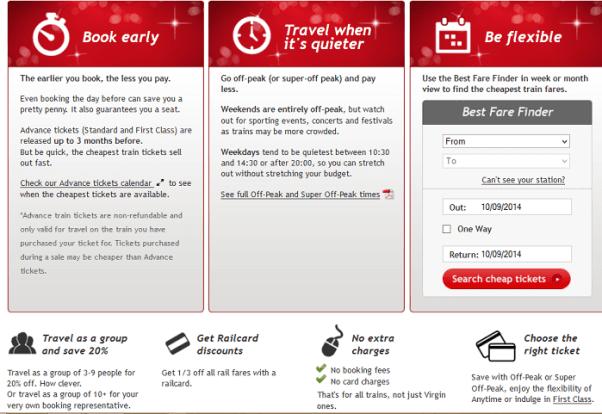 VirginTrains travel cheap