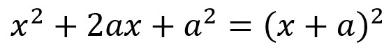 relation for completing the square