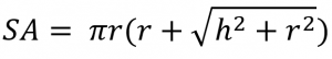 cone surface area formula
