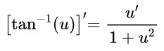 derivative arctan(u)