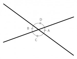two pairs of vertical angles