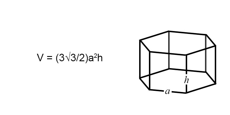 volume of a hexagonal prism