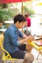 พอตกเที่ยงบ่ายก็พามาขาแช่น้ำเล่นที่เสพย์ศิลป์กาแฟ สะเมิง