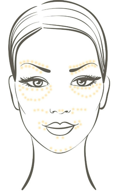 donde aplicar corrector maquillaje