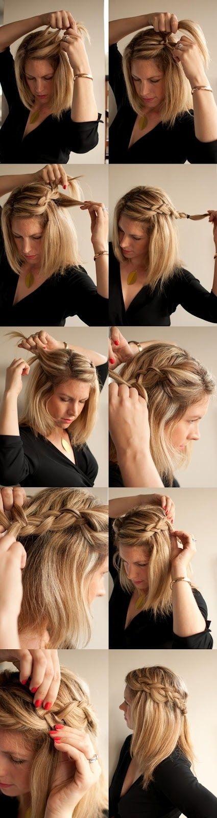 Peinados faciles para diario pelo corto