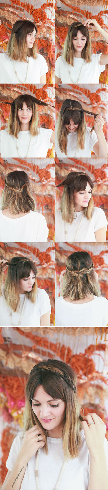peinados para cabello corto trenzas vorana