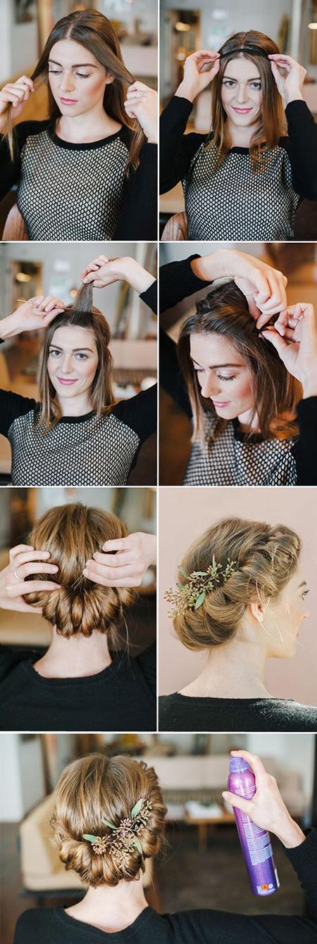 tutorial peinado novia cabello corto