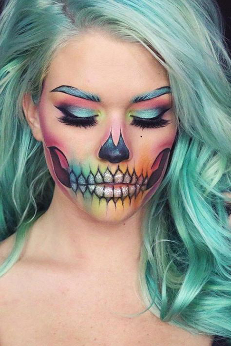5 Looks Lindos De Maquillaje Para Halloween - Maquillaje-halowin