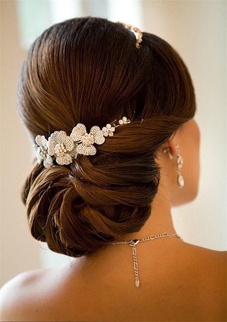 6 Peinados Para Novia Recogidos - Adornos-de-novia-para-el-cabello
