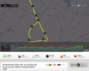 Bommelasloop route