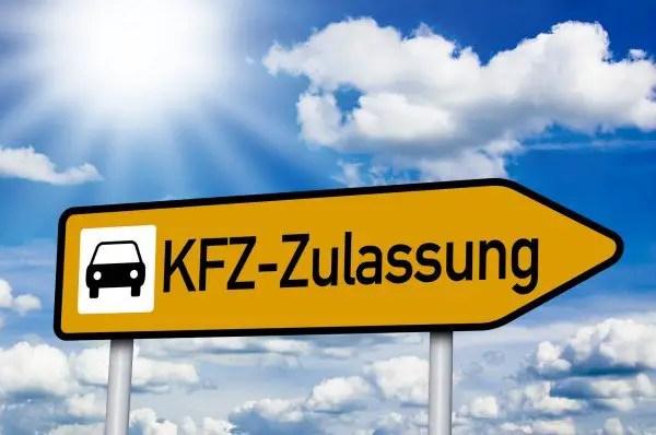 Vorlage fr die Zulassungsstelle PKWKFZ Zulassung  vorlageformularecom