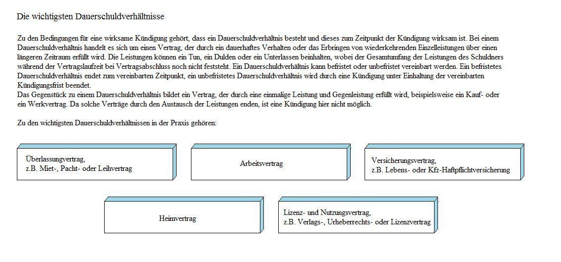 dauerschuldverhaeltnis - Lizenzvertrag Muster