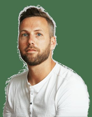 Bjorn Souverijn, grafisch ontwerper en eigenaar van Vormontwerp in Nijverdal