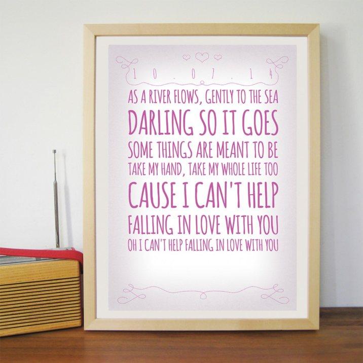 romantikpersonalisierbares poster personalisierte geschenke