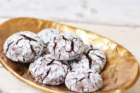 Rezept Crinkle Cookies backen weihnachten plaetzchen rezept