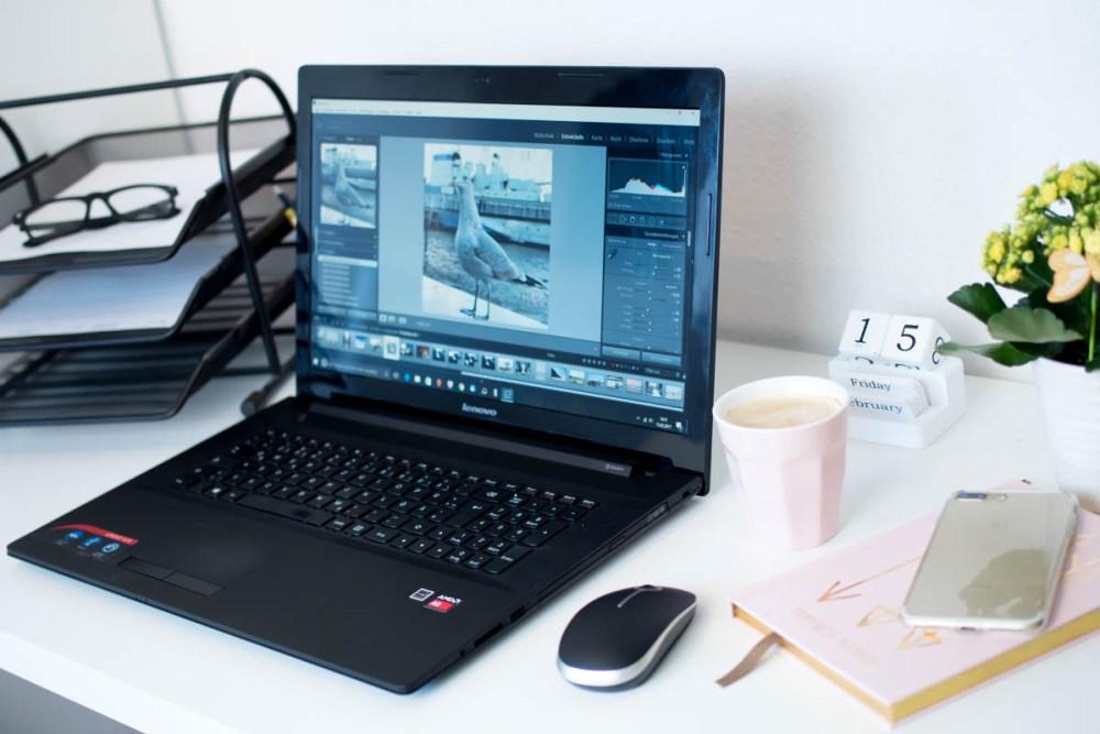 Bildbearbeitung mit Lightroom Schreibtisch Bloggertipps Fotogra
