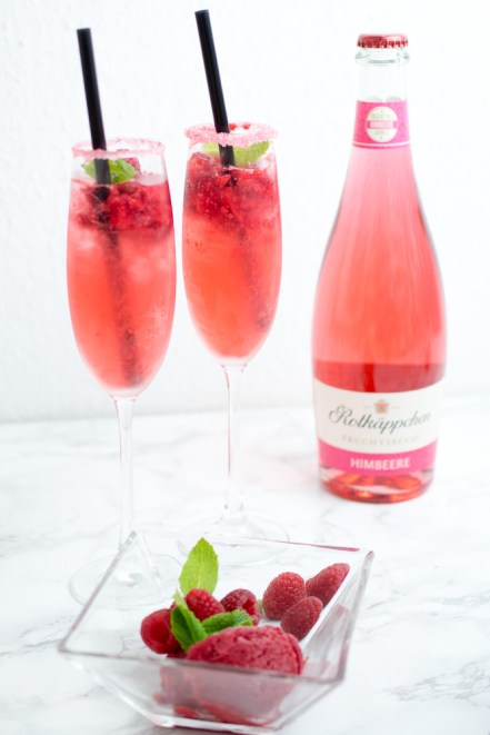 rotkaeppchen fruchtsecco himbeersorbet cocktail