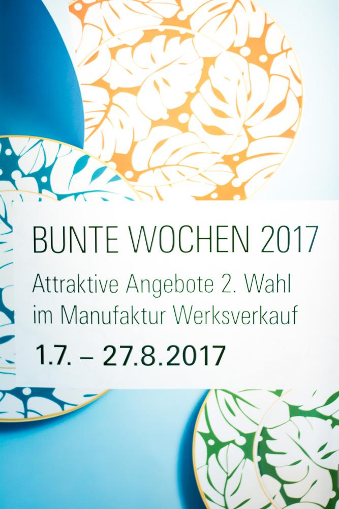 Manufaktur Werksverkauf fuerstenberg bunte wochen 2017