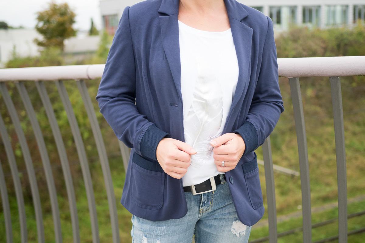 blazer dunkelblau sweatblazer