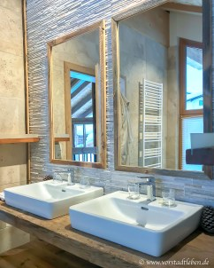 badezimmer doppelwaschbecken chalet im weidach