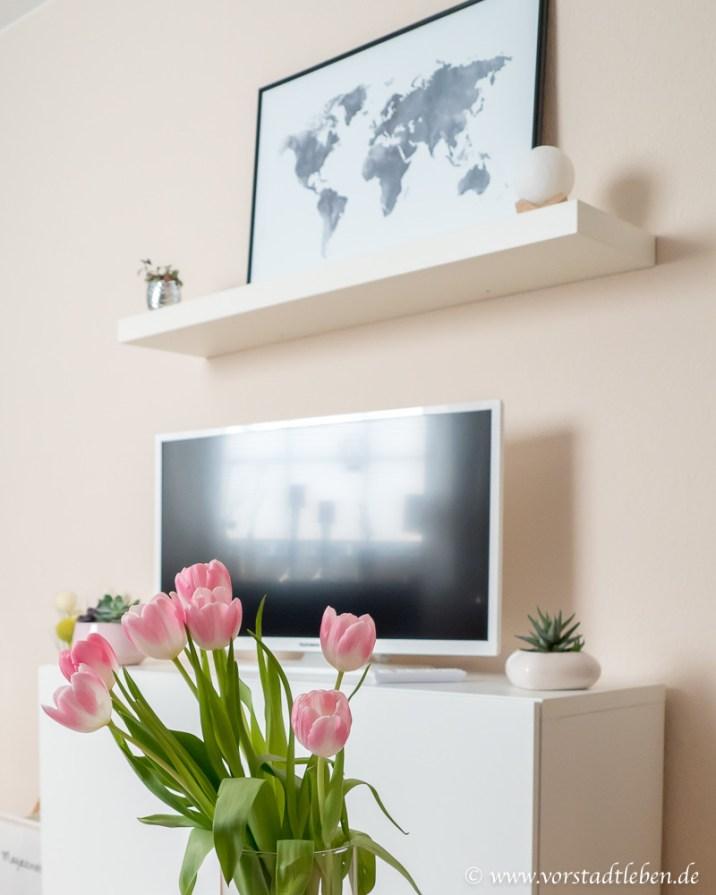 DIY TV Wand vorher