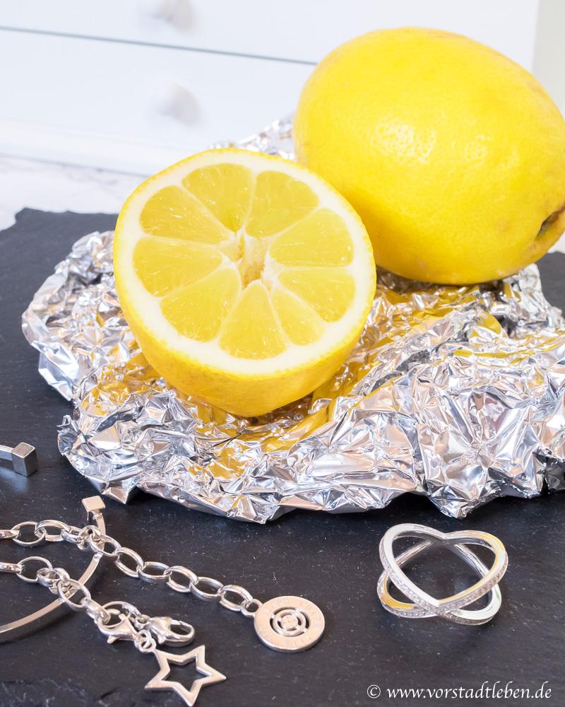 Silberschmuck reinigen zitrone  Modeschmuck