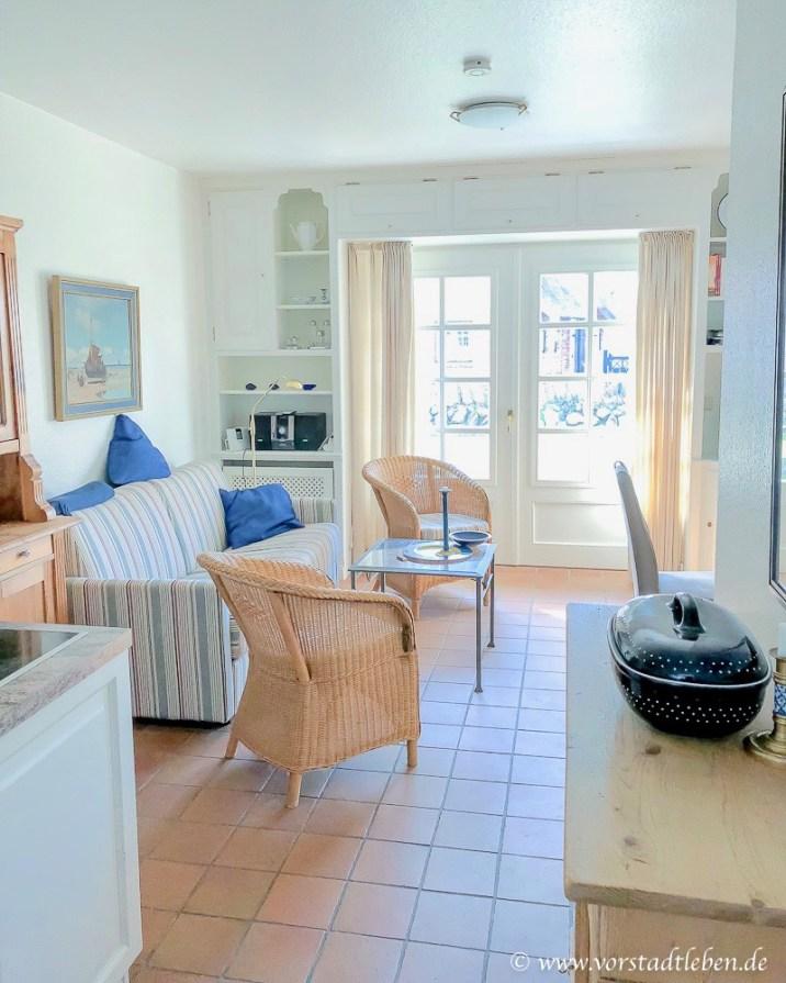 Ferienwohnung Sylt Wohnbereich Terrasse