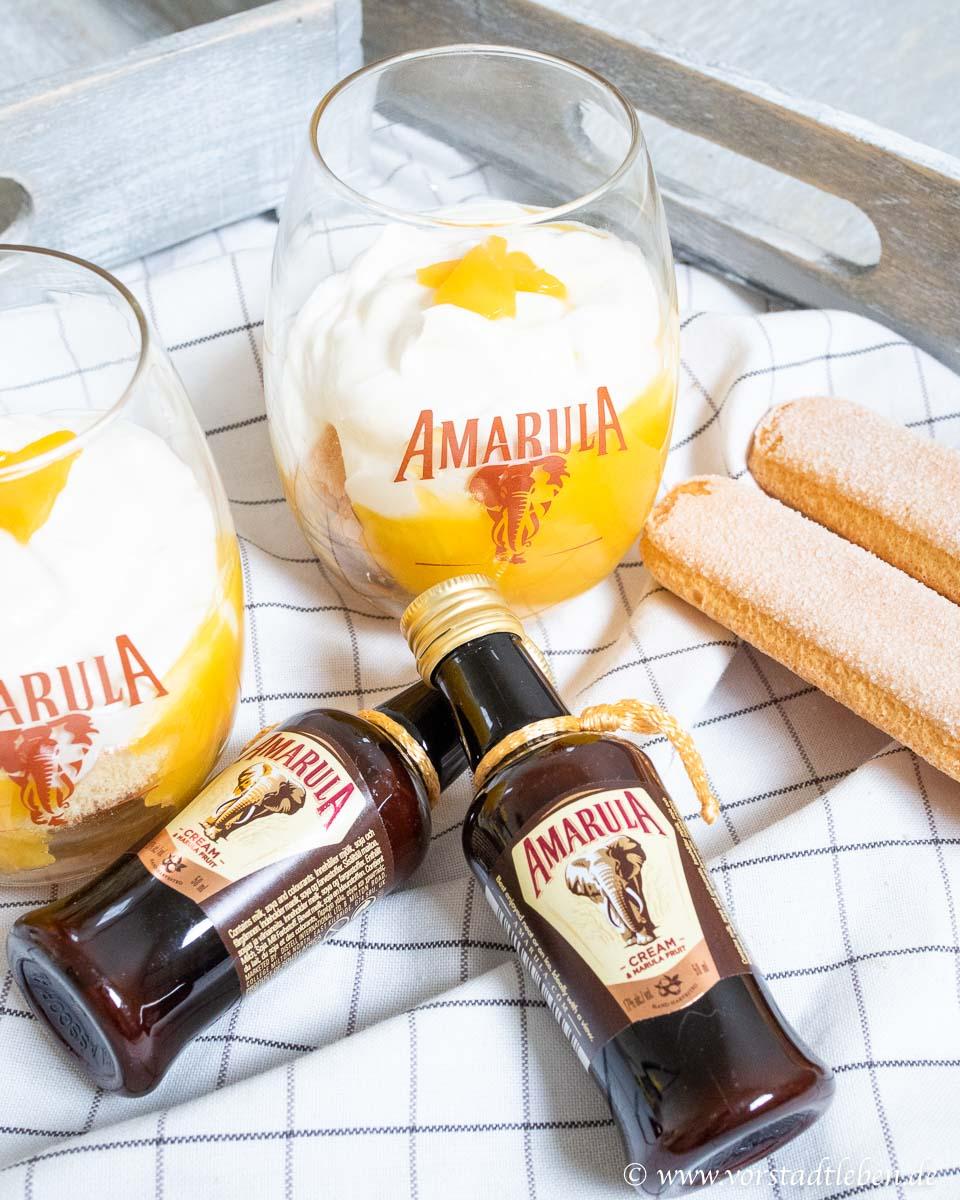 Schnelles Dessert Mango Tiramisu im Glas