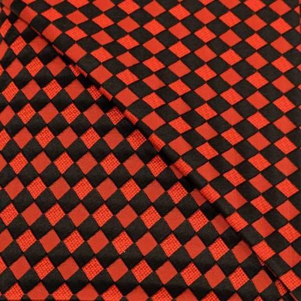 57.08615.020 Jacquard Blok Diagonaal rood