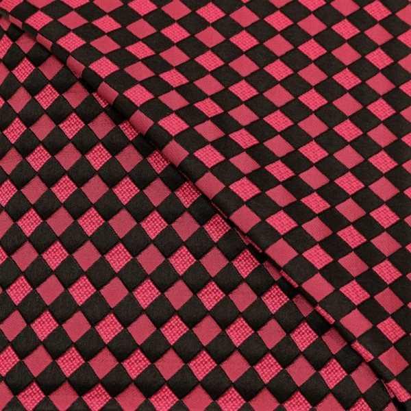 57.08615.063 Jacquard Blok Diagonaal cyclaam