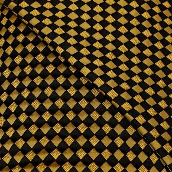 57.08615.017 Jacquard Blok Diagonaal geel