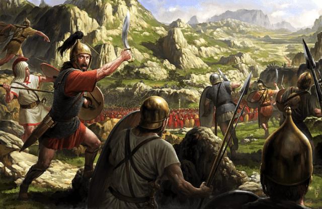 Lusitanos comandados por Viriato a combater os Romanos