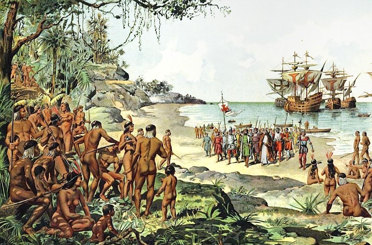 Resultado de imagem para chegada dos portugueses no brasil