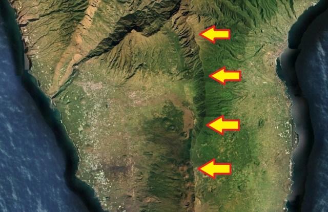 Zona de fractura de Cumbre Vieja