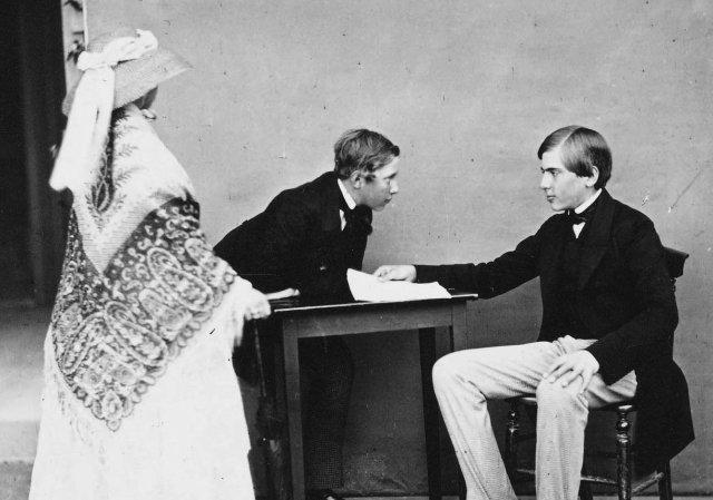 D. Pedro V. o seu irmão D. Luís e a Rainha Vitória de Inglaterra
